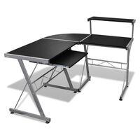 Computertisch Schreibtisch Arbeitstisch Ecktisch PC Tisch Büro schwarz