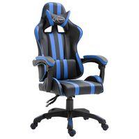 vidaXL Gaming-Stuhl Blau Kunstleder