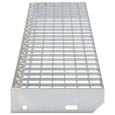 vidaXL Treppenstufen 4 Stk. Pressroste Verzinkter Stahl 1000 x 240 mm