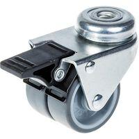 "50mm 2 ""Doppelradrolle grau Gummi Drehgelenk mit Bremse 70kg Kapazität"