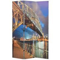 vidaXL Raumteiler klappbar 120 x 170 cm Sydney Harbour Bridge