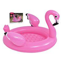 Aufblasbarer Flamingo-pool - Rosa - 108x95x65x65cm