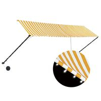 vidaXL Einziehbare Markise mit LED 400×150 cm Gelb und Weiß