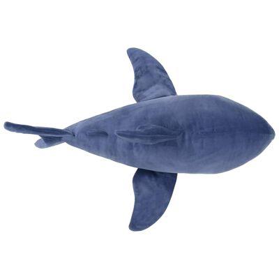 vidaXL Weißhai Stofftier Plüsch Blau und Weiß
