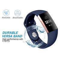 Fitbit Charge 3/4 Armband Silikon Blau (s)