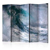5-teiliges Paravent - Ocean wave II  - 225x172 cm