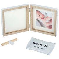 Baby Art Handabdruck Bilderrahmen Holz Quadratisch