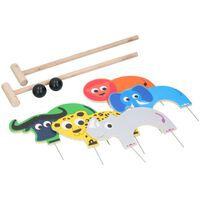 Marionette Wooden Toys Krocket - Wildtiere - 9-teilig - Holz