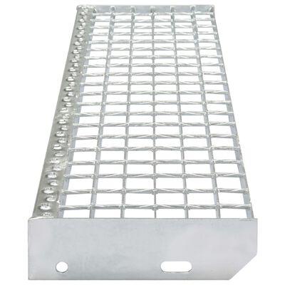 vidaXL Treppenstufen 4 Stk. Geschmiedet Verzinkter Stahl 700 x 240 mm