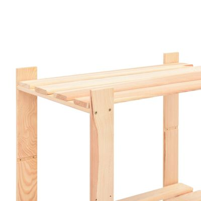 vidaXL Lagerregal mit 5 Böden 80×38×170 cm Kiefer Massivholz 250 kg