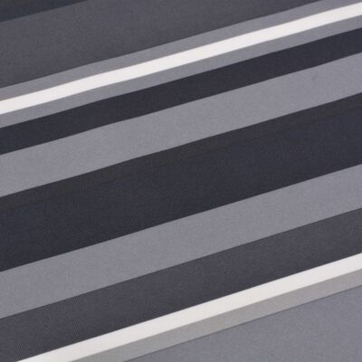 vidaXL Balkonsichtschutz Oxford-Gewebe 75×400 cm Gestreift Grau