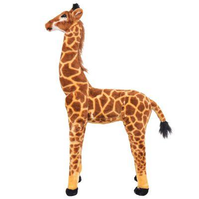 vidaXL Stehendes Plüschspielzeug Giraffe Braun und Gelb XXL