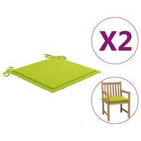 vidaXL Gartenstuhl-Sitzkissen 2 Stk. Hellgrün 50x50x4 cm Stoff