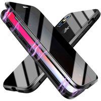 Magnetische Handyhülle Mit Displayschutz Iphone Xs Max - Schwarz
