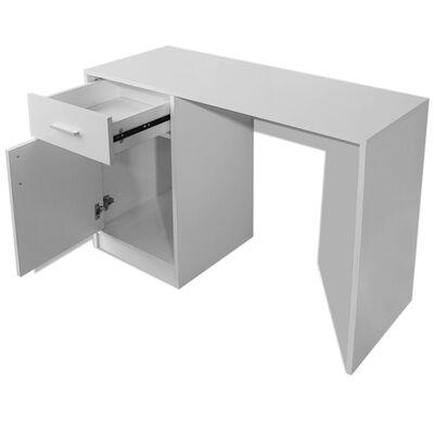 vidaXL Schreibtisch mit Schublade und Schrank Weiß 100x40x73 cm, Weiß
