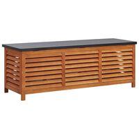 vidaXL Gartenbox 150x50x55 cm Eukalyptus Massivholz
