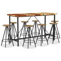 vidaXL 9-tlg. Bar-Set Recyceltes Massivholz