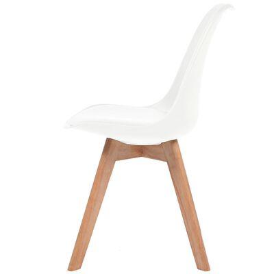 vidaXL Esszimmerstühle 6 Stk. Kunstleder Weiß